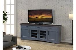 Americana Denim Modern 76 Inch Tv Console