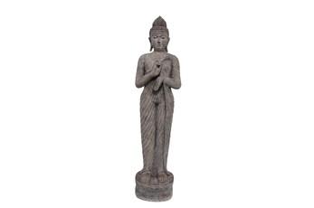 Ol 61 Inch Gray Resin Standing Buddha