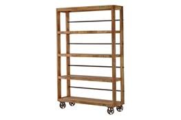 """Vintage Wheeled 83"""" Bookcase"""