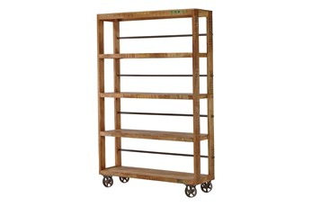 "Vintage Wheeled 83"" Bookcase"