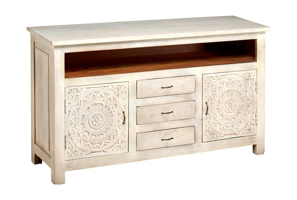 """Carved Lace Media 58"""" Sideboard"""