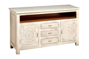 "Carved Lace Media 58"" Sideboard"