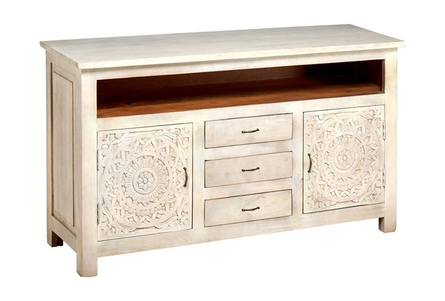 """Carved Lace Media 58"""" Sideboard - 360"""