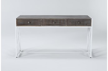 """Ventura Ash 60"""" Desk With 3 Drawers"""