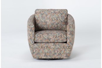Alder Foam Chadwick Carnival Swivel Accent Chair