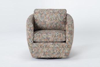 Alder Foam Chadwick Carnival Swivel Accent Chair