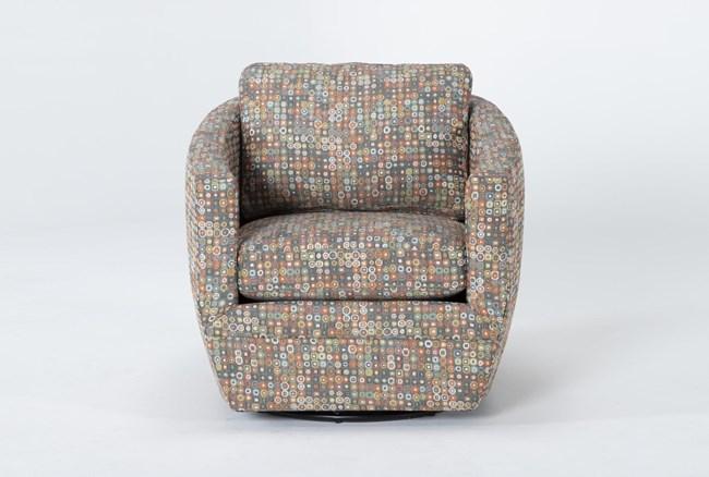 Alder Foam Chadwick Carnival Swivel Accent Chair - 360