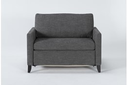 "Mikayla Graphite 48"" Twin Sofa Sleeper"