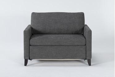 """Mikayla Graphite 48"""" Twin Sofa Sleeper"""