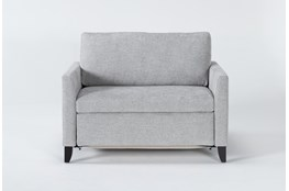 "Mikayla Smoke 48"" Twin Sofa Sleeper"