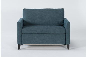 "Mikayla Teal 48"" Twin Sofa Sleeper"