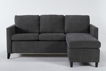 Mikayla Graphite Queen Plus Sofa Sleeper Chaise