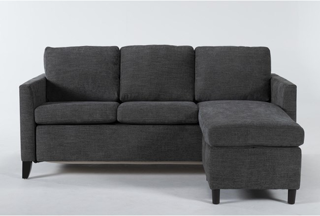 Mikayla Graphite Queen Plus Sofa Sleeper Chaise - 360