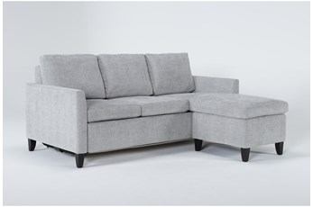 Mikayla Smoke Queen Plus Sofa Sleeper Chaise