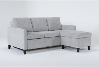 Mikayla Smoke Queen Plus Sofa Sleeper Chaise