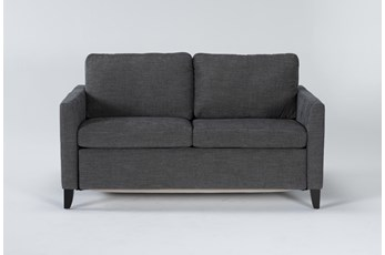 "Mikayla Graphite 63"" Full Sofa Sleeper"