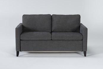 "Mikayla Graphite 63"" Full Sofa Sleeper"