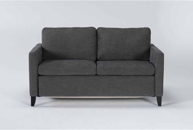 "Mikayla Graphite 63"" Full Sofa Sleeper - 360"