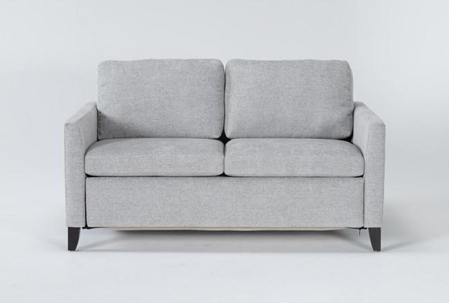 "Mikayla Smoke 63"" Full Sofa Sleeper - 360"