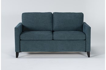 "Mikayla Teal 63"" Full Sofa Sleeper"