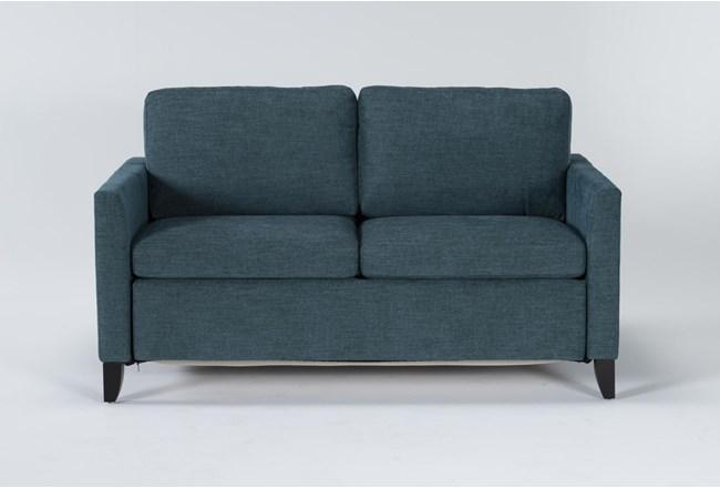 "Mikayla Teal 63"" Full Sofa Sleeper - 360"