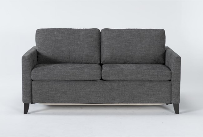 "Mikayla Graphite 70"" Queen Sofa Sleeper - 360"