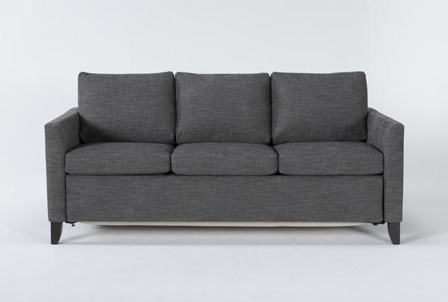 "Mikayla Graphite 76"" Queen Plus Sofa Sleeper - 360"
