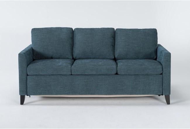 Mikayla Teal Queen Plus Sofa Sleeper - 360