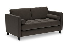 """Magnolia Home Sinclair Luxe Fog 65"""" Loveseat By Joanna Gaines"""