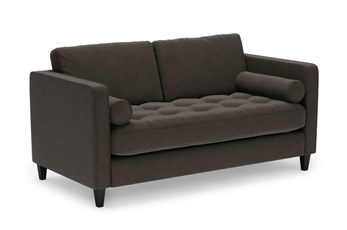 "Magnolia Home Sinclair Luxe Fog 65"" Loveseat By Joanna Gaines"