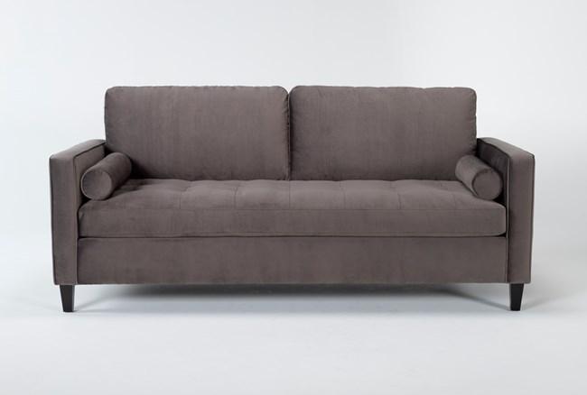 "Magnolia Home Sinclair Luxe Fog 87"" Sofa By Joanna Gaines - 360"