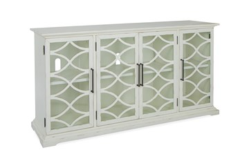 Galena White 4 Door Console