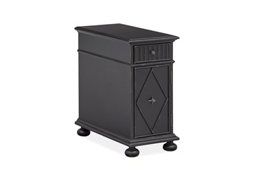 Springdale Weathered Midnight Chairside Table