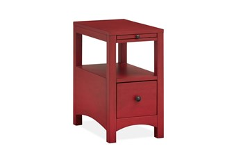 Boonville Red Chairside Table