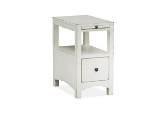 Boonville White Chairside Table