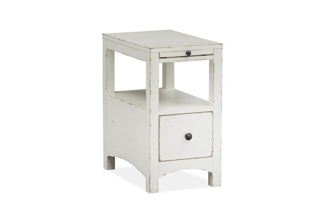 Boonville White Chairside Table - 360