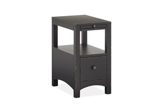 Boonville Weathered Midnight Chairside Table