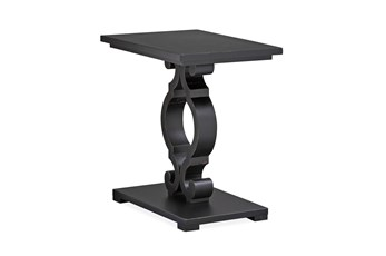 Cliffport Weathered Black Chairside Table