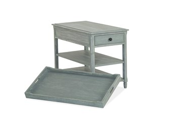 Stockbridge Blue Chairside Table