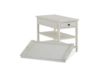 Stockbridge White Chairside Table