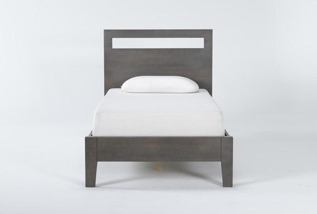 Gaven Grey Twin Panel Bed - 360