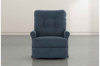 Marilee Denim Power Swivel Glider Recliner