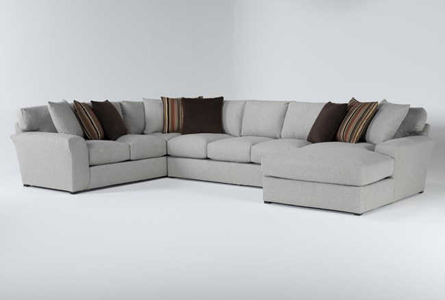 """Belmont 3 Piece 158"""" Sectional With Right Arm Facing Chaise - 360"""