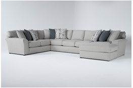 """Belmont 3 Piece 158"""" Sectional With Right Arm Facing Chaise"""