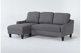 "Jarreau Gray 83"" Sofa Chaise Sleeper"