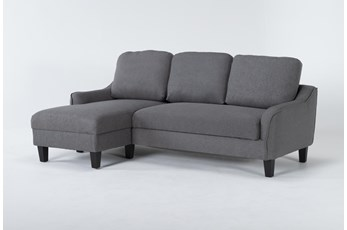 "Jarreau Gray 83"" Sofa Chaise Sleeper"