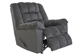 Drakestone Charcoal Rocker Recliner With Heat and Massage