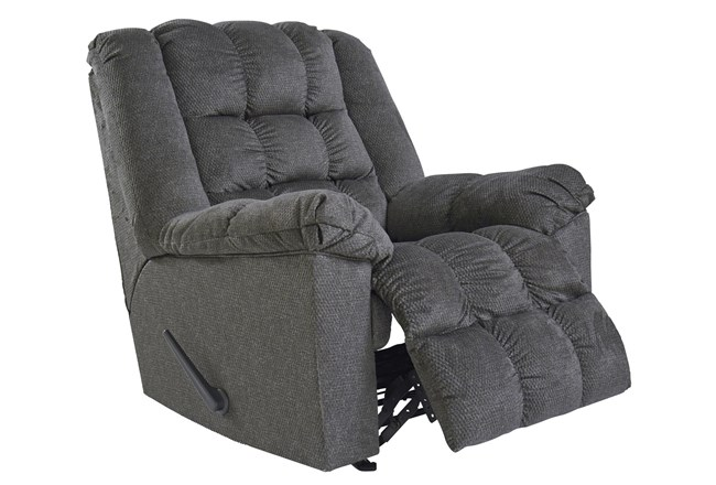Drakestone Charcoal Rocker Recliner With Head and Massage - 360