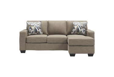 """Greaves Driftwood 85"""" Sofa With Reversible Chaise"""