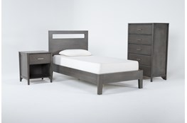 Gaven Grey Twin 3 Piece Bedroom Set